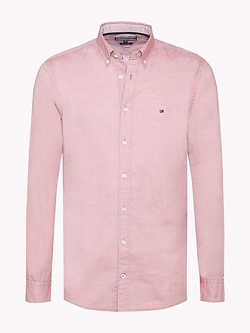 TOMMY HILFIGER Dobby Cotton Regular Fit Shirt - DUSTY ROSE - TOMMY HILFIGER Shirts - main image