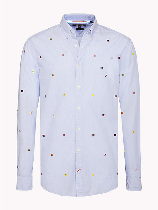 TOMMY HILFIGER Regular Fit Flag-Hemd - SHIRT BLUE / BW / MULTI - TOMMY HILFIGER Hemden - main image