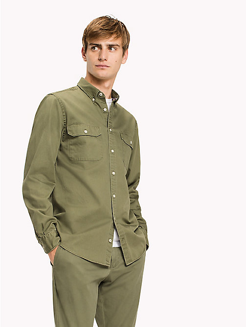 TOMMY HILFIGER Regular fit military overhemd - FOUR LEAF CLOVER - TOMMY HILFIGER Overhemden - detail image 1