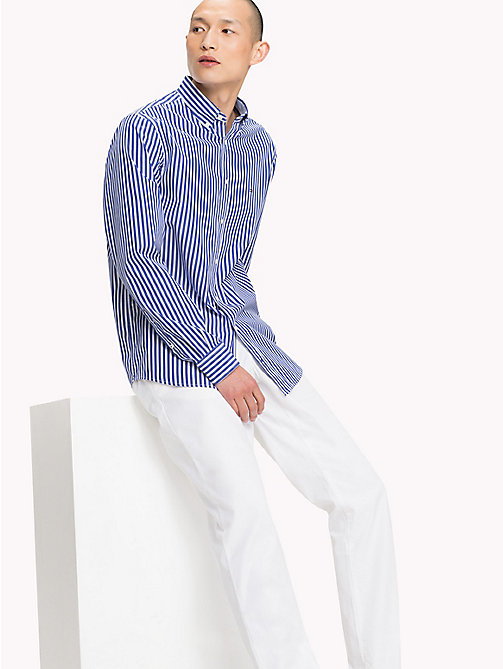 TOMMY HILFIGER Regular Fit Striped Shirt - MAZARINE BLUE / BRIGHT WHITE - TOMMY HILFIGER Casual Shirts - detail image 1
