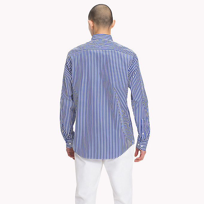TOMMY HILFIGER Regular Fit Striped Shirt - VERDANT GREEN / BRIGHT WHITE - TOMMY HILFIGER Men - detail image 2