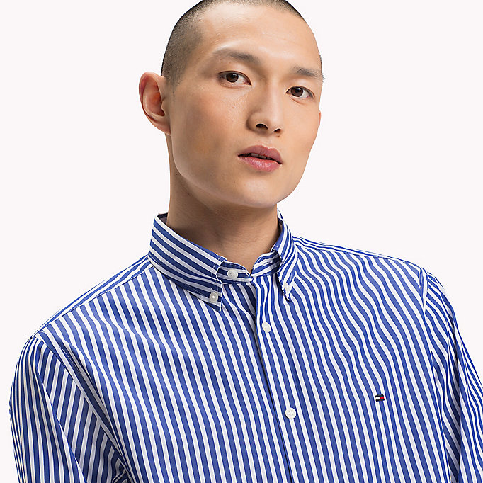 TOMMY HILFIGER Regular Fit Striped Shirt - VERDANT GREEN / BRIGHT WHITE - TOMMY HILFIGER Men - detail image 3