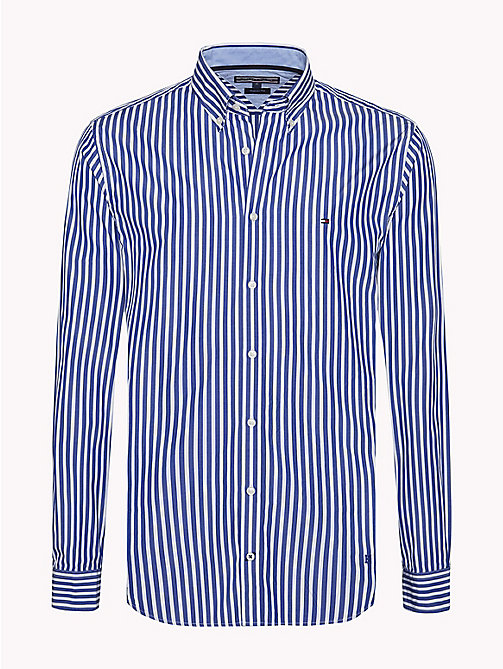 TOMMY HILFIGER Regular Fit Striped Shirt - MAZARINE BLUE / BRIGHT WHITE - TOMMY HILFIGER Casual Shirts - main image