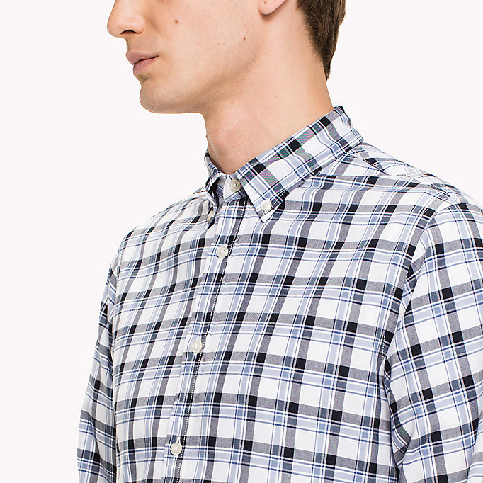 TOMMY HILFIGER Slim Fit Checked Shirt - VERDANT GREEN / MARITIME BLUE - TOMMY HILFIGER Clothing - detail image 3