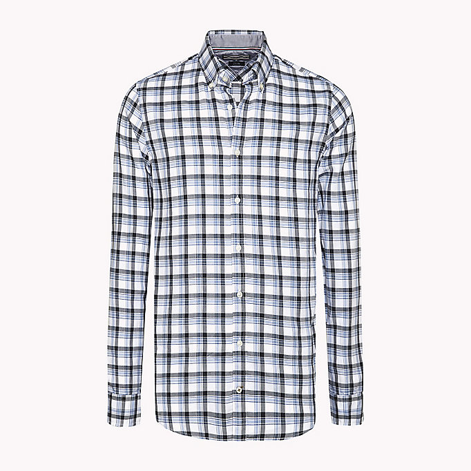 TOMMY HILFIGER Slim Fit Checked Shirt - VERDANT GREEN / MARITIME BLUE - TOMMY HILFIGER Men - main image