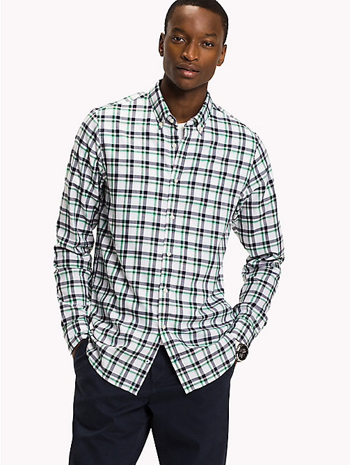 TOMMY HILFIGER Slim Fit Checked Shirt - VERDANT GREEN / MARITIME BLUE - TOMMY HILFIGER Shirts - detail image 1