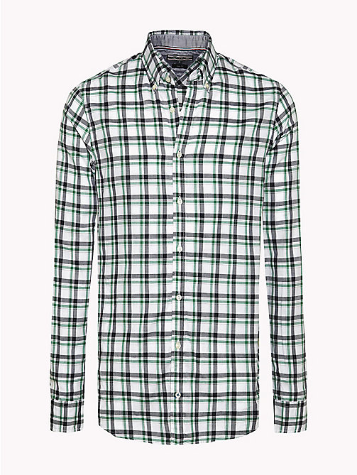 TOMMY HILFIGER Slim Fit Checked Shirt - VERDANT GREEN / MARITIME BLUE - TOMMY HILFIGER Shirts - main image