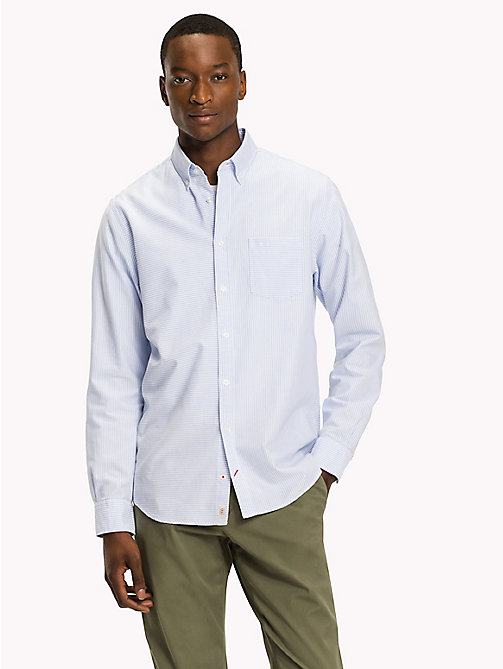TOMMY HILFIGER Camicia a righe Ithaca - LIGHT SHIRT BLUE / BW - TOMMY HILFIGER Camicie - dettaglio immagine 1
