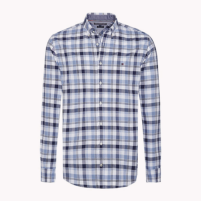 TOMMY HILFIGER Regular Fit Checked Shirt - MARITIME BLUE / CLOUD HTR - TOMMY HILFIGER Clothing - main image