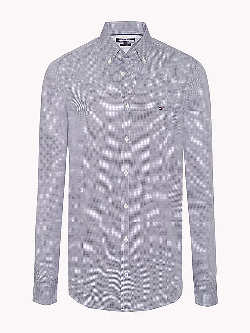 TOMMY HILFIGER Slim Fit Checked Shirt - MARITIME BLUE / BRIGHT WHITE - TOMMY HILFIGER Shirts - main image