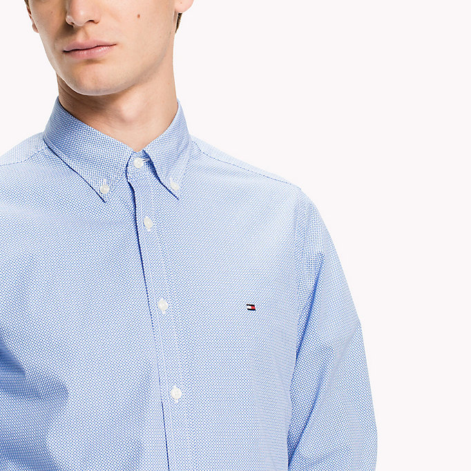 TOMMY HILFIGER Slim Fit Checked Shirt - QUIET SHADE / BRIGHT WHITE - TOMMY HILFIGER Clothing - detail image 3