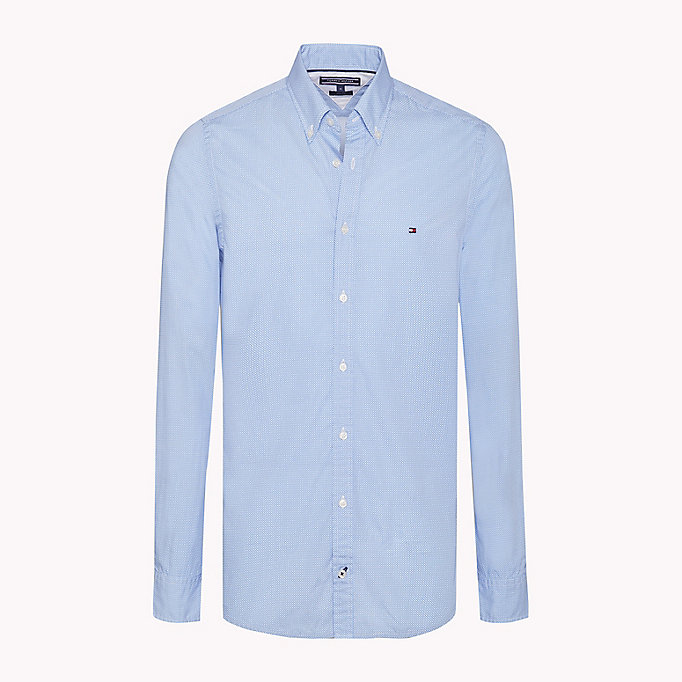 TOMMY HILFIGER Slim Fit Checked Shirt - QUIET SHADE / BRIGHT WHITE - TOMMY HILFIGER Clothing - main image