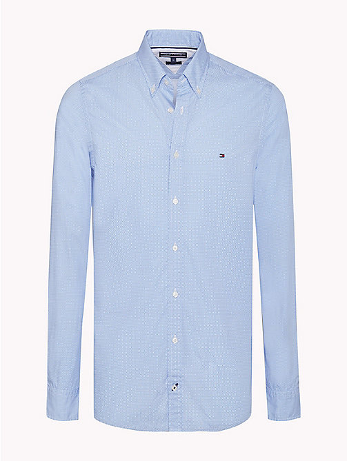 TOMMY HILFIGER Slim Fit Checked Shirt - REGATTA / BRIGHT WHITE - TOMMY HILFIGER Shirts - main image