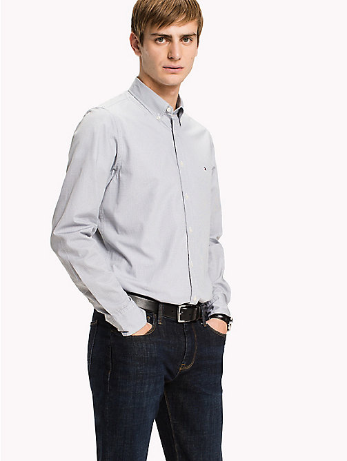 TOMMY HILFIGER Slim Fit Checked Shirt - QUIET SHADE / BRIGHT WHITE - TOMMY HILFIGER Shirts - detail image 1