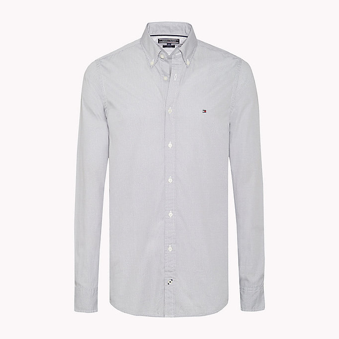 TOMMY HILFIGER Slim Fit Checked Shirt - MARITIME BLUE / BRIGHT WHITE - TOMMY HILFIGER Clothing - main image