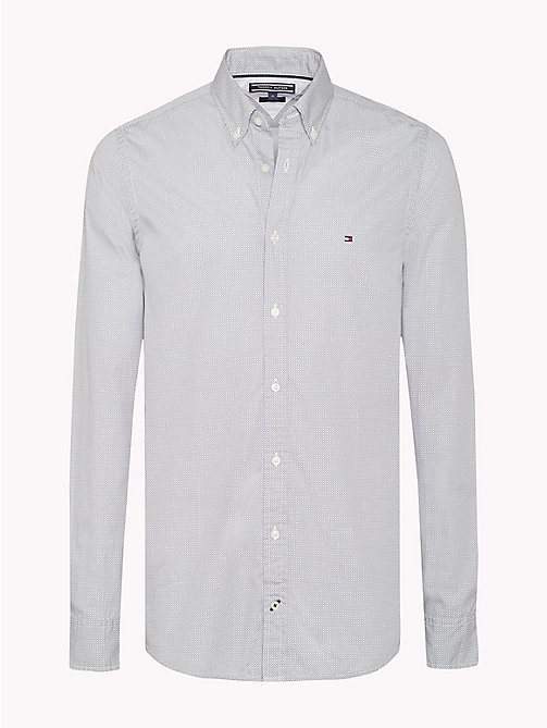 TOMMY HILFIGER Slim Fit Checked Shirt - QUIET SHADE / BRIGHT WHITE - TOMMY HILFIGER Shirts - main image