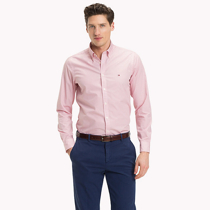 TOMMY HILFIGER Slim fit geruit overhemd - QUIET SHADE / BRIGHT WHITE - TOMMY HILFIGER Heren - main image