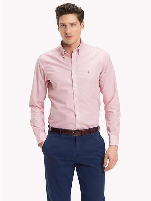 TOMMY HILFIGER Slim Fit Karohemd - DUSTY ROSE / BRIGHT WHITE - TOMMY HILFIGER Kleidung - main image