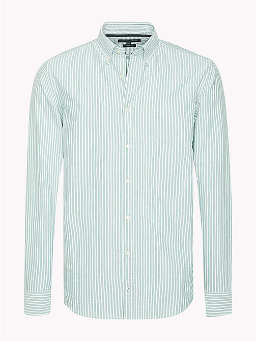 TOMMY HILFIGER Regular Fit Striped Shirt - VERDANT GREEN / BRIGHT WHITE - TOMMY HILFIGER Shirts - main image