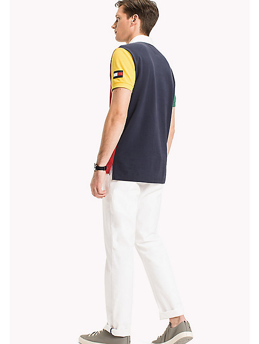 TOMMY HILFIGER Colourblocked polo - NAVY BLAZER / MULTI -  T-Shirts & Polo's - detail image 1