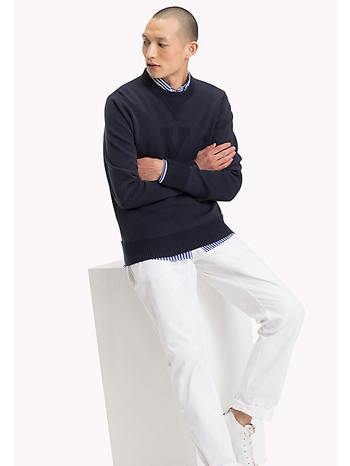 TOMMY HILFIGER Essential Crew Neck Jumper - SKY CAPTAIN - TOMMY HILFIGER Clothing - main image