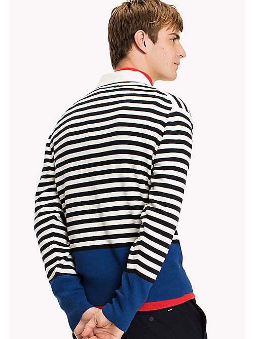 TOMMY HILFIGER Striped Rugby Shirt - SKY CAPTAIN - TOMMY HILFIGER Knitwear - detail image 1