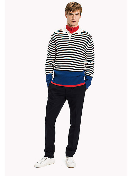 TOMMY HILFIGER Striped Rugby Shirt - SKY CAPTAIN - TOMMY HILFIGER Knitwear - main image