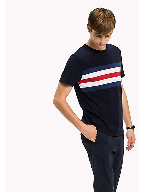 TOMMY HILFIGER Signature Stripe Regular Fit Tee - NAVY BLAZER - TOMMY HILFIGER T-Shirts - main image