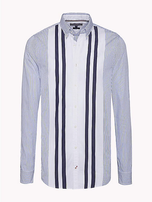 TOMMY HILFIGER Slim Fit Striped Shirt - ROYAL BLUE / MULTI - TOMMY HILFIGER Clothing - main image