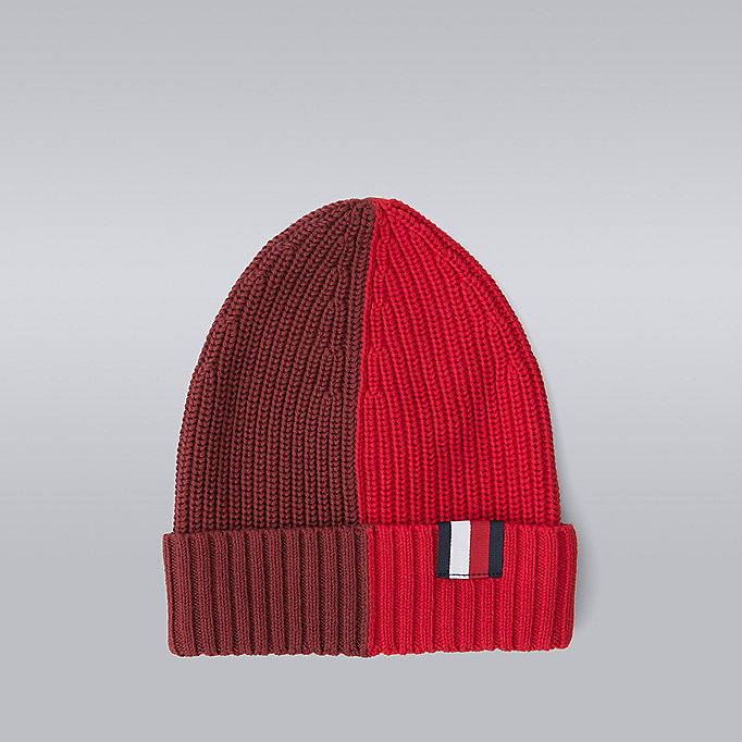 TOMMY HILFIGER Blokgestreepte beanie - Hilfiger Edition - SNOW WHITE/BARBADOS CHERRY/SKY CAPTAIN/S - TOMMY HILFIGER Heren - main image