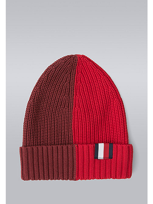 TOMMY HILFIGER Block Stripe Beanie - Hilfiger Edition - SYRAH/BARBADOS CHERRY - TOMMY HILFIGER Bags & Accessories - main image