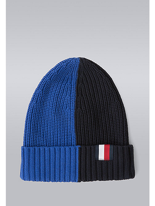 TOMMY HILFIGER Block Stripe Beanie - Hilfiger Edition - SURF THE WEB/SKY CAPTAIN - TOMMY HILFIGER Bags & Accessories - main image