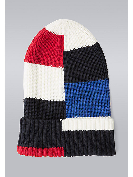 TOMMY HILFIGER Block Stripe Beanie - Hilfiger Edition - SNOW WHITE/BARBADOS CHERRY/SKY CAPTAIN/S - TOMMY HILFIGER Bags & Accessories - detail image 1