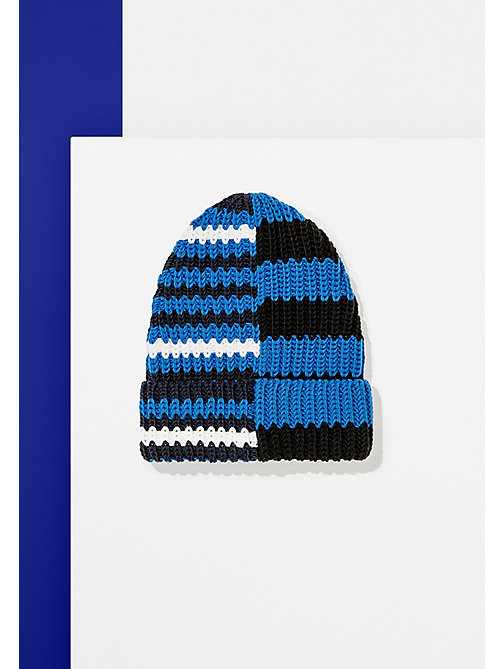 TOMMY HILFIGER Mixed Stripe Beanie - Hilfiger Edition - SURF THE WEB/FLAG BLACK/SNOW WHITE - TOMMY HILFIGER Bags & Accessories - main image