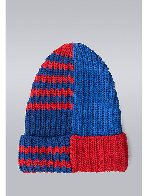 TOMMY HILFIGER Mixed Stripe Beanie - Hilfiger Edition - SURF THE WEB/MARS RED - TOMMY HILFIGER Bags & Accessories - detail image 1