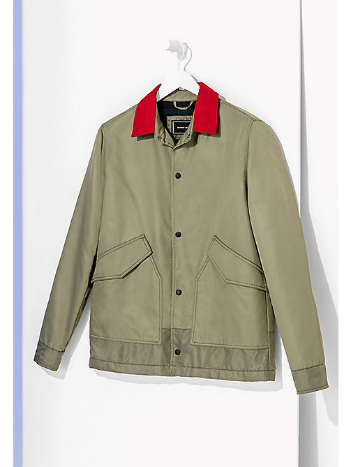 TOMMY HILFIGER Short Army Coach - Hilfiger Edition - DUSTY OLIVE - TOMMY HILFIGER Coats & Jackets - main image