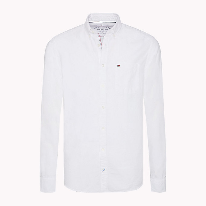 TOMMY HILFIGER Regular Fit Oxford Shirt - CORAL BLUSH - TOMMY HILFIGER Clothing - main image