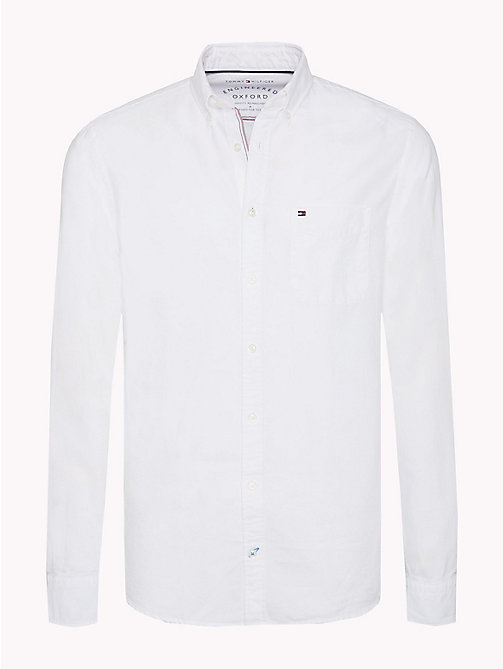 TOMMY HILFIGER Regular Fit Oxford Shirt - BRIGHT WHITE - TOMMY HILFIGER Men - main image
