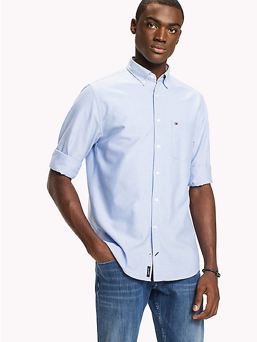 TOMMY HILFIGER Regular Fit Oxford Shirt - SHIRT BLUE - TOMMY HILFIGER Vacation Style - detail image 1
