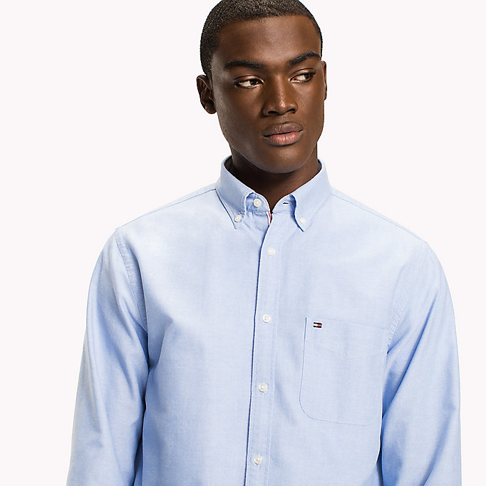 TOMMY HILFIGER Regular Fit Oxford Shirt - ESTATE BLUE - TOMMY HILFIGER Clothing - detail image 3