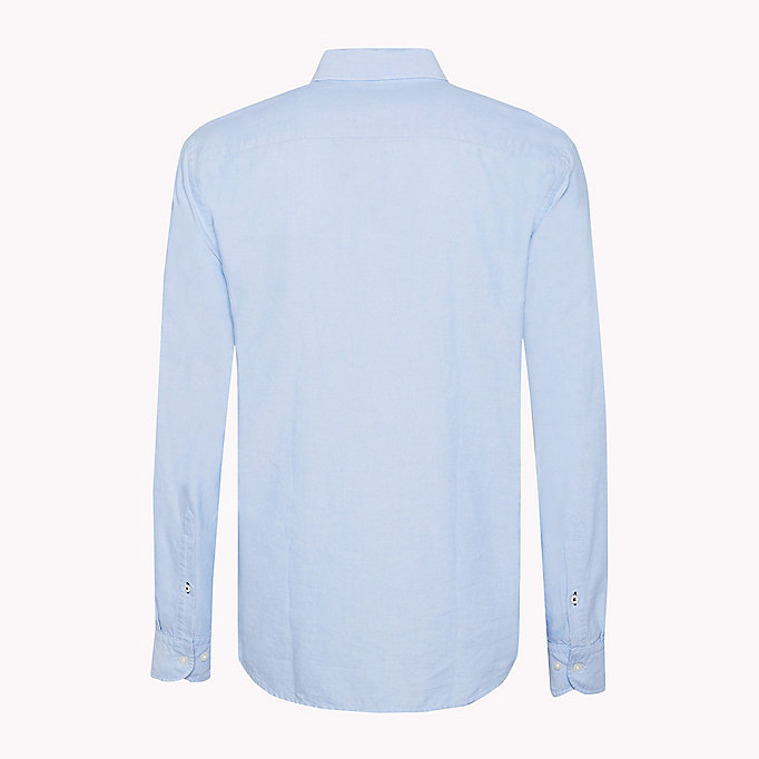 TOMMY HILFIGER Regular Fit Oxford Shirt - ESTATE BLUE - TOMMY HILFIGER Men - detail image 5
