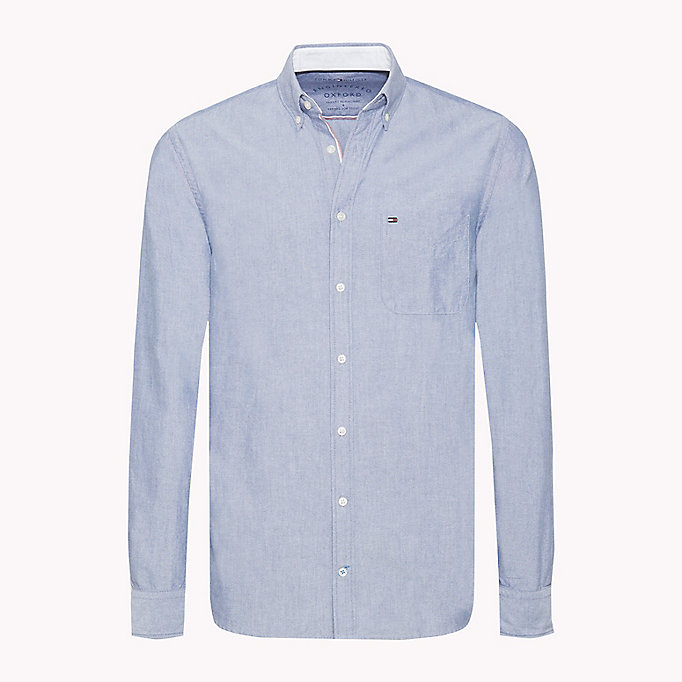 TOMMY HILFIGER Regular Fit Oxford Shirt - BRIGHT WHITE - TOMMY HILFIGER Clothing - main image