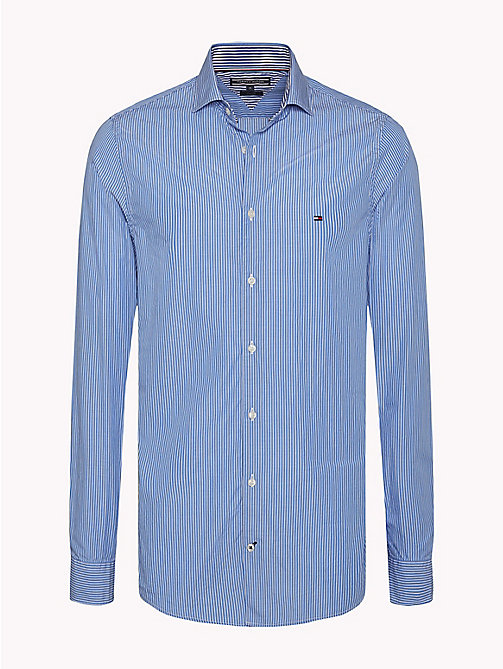 TOMMY HILFIGER Slim Fit Striped Shirt - REGATTA / BRIGHT WHITE - TOMMY HILFIGER Casual Shirts - main image