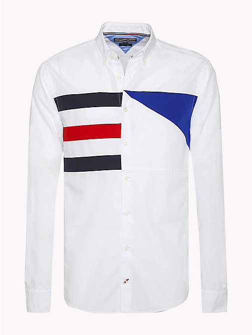 TOMMY HILFIGER Regular Fit Sailing Flag Shirt - BRIGHT WHITE / MULTI - TOMMY HILFIGER Shirts - main image
