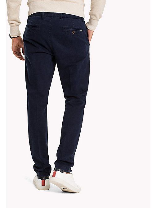 TOMMY HILFIGER Straight Fit Striped Chinos - SKY CAPTAIN - TOMMY HILFIGER Trousers - detail image 1