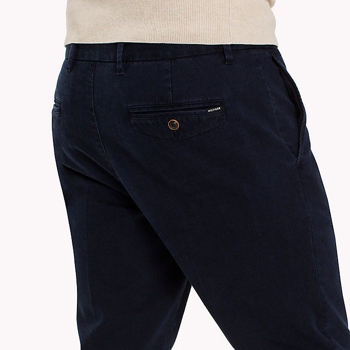 TOMMY HILFIGER Straight Fit Striped Chinos - INFINITY - TOMMY HILFIGER Clothing - detail image 3