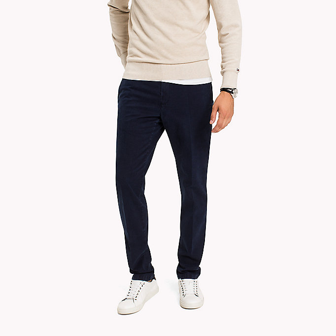 TOMMY HILFIGER Straight Fit Striped Chinos - INFINITY - TOMMY HILFIGER Clothing - main image