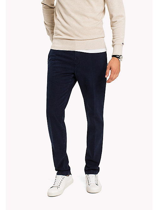 TOMMY HILFIGER Straight Fit Striped Chinos - SKY CAPTAIN - TOMMY HILFIGER Trousers - main image