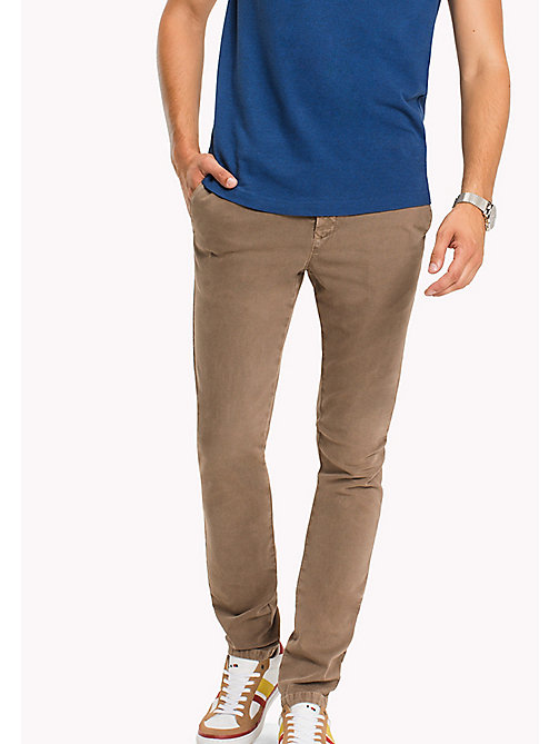 TOMMY HILFIGER Straight Fit Textured Chinos - ELMWOOD - TOMMY HILFIGER Trousers - main image