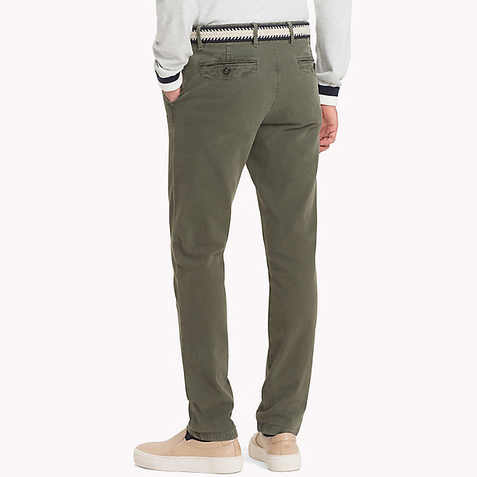 TOMMY HILFIGER Straight Fit Textured Chinos - DUSTY ROSE - TOMMY HILFIGER Men - detail image 1